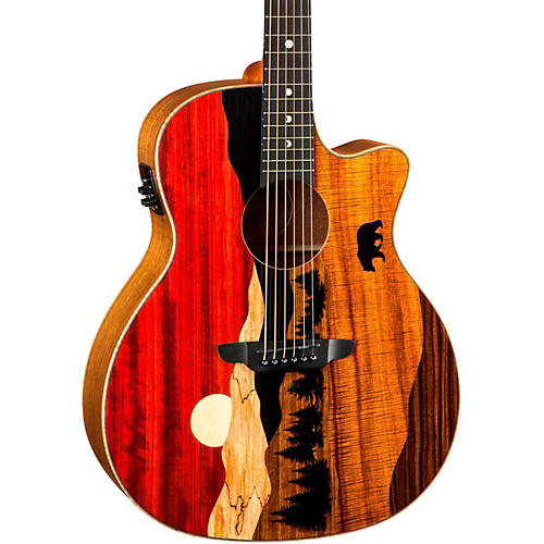 Luna Guitars Vista Bear Acoustic-Electric Guitar Natural