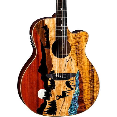 Luna Guitars Vista Deer Tropical Wood Acoustic-Electric Guitar-thumbnail