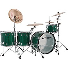 Ludwig Vistalite 45th Anniversary Shell Pack -Green Sparkle