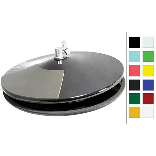 Pintech VisuLite Professional Hi-Hat Cymbals with Included Controller 13 in. Fluorescent Blue