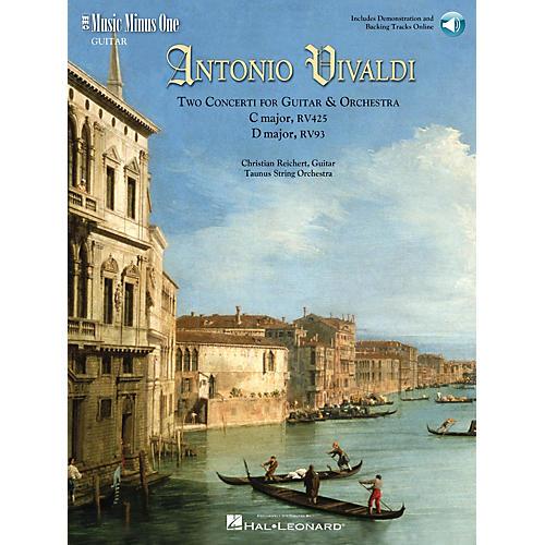 Music Minus One Vivaldi-Two Concerti for Guitar (Lute) & Orch: C Maj RV425 and D Maj RV93 Music Minus One BK/Audio Online