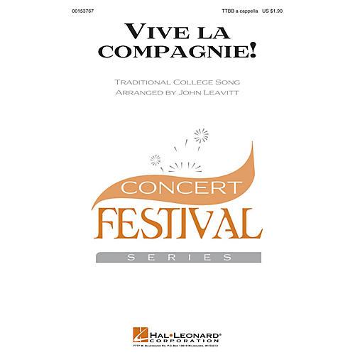 Hal Leonard Vive la compagnie! TTBB A Cappella arranged by John Leavitt
