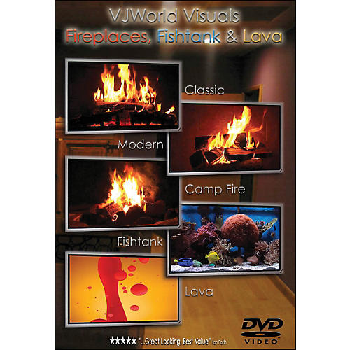 Hal Leonard Vj World Visuals Fireplaces, Fishtank & Lava DVD
