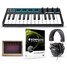 Alesis Vmini Portable 25-Key USB-MIDI Keyboard Controller Packages Mobile Beginner Package