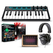 Alesis Vmini Portable 25-Key USB-MIDI Keyboard Controller Packages Mobile Virtual Instrument Package