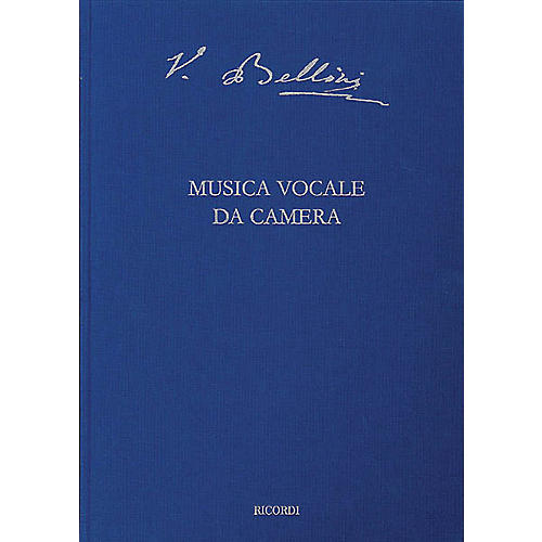 Ricordi Vocal Chamber Music Critical Ed Full Score Hardbound with critical commentary by Bellini Edited by Steffan-thumbnail