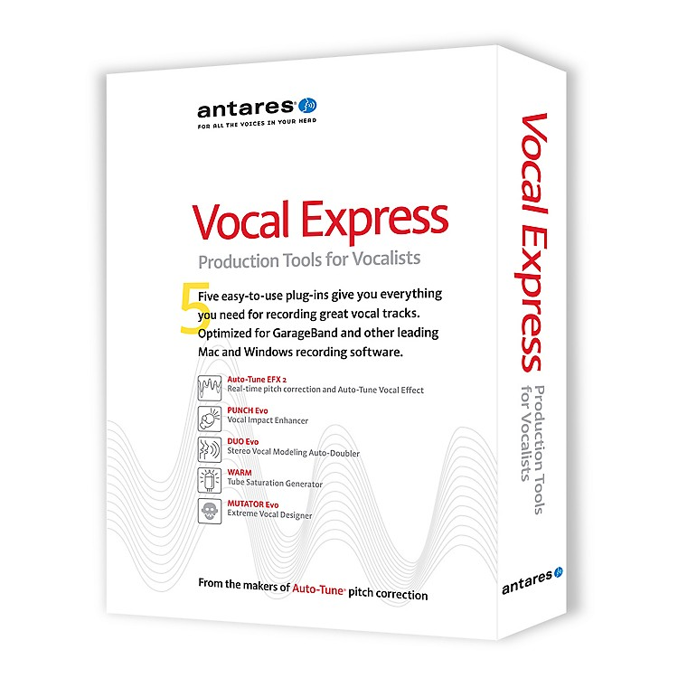 Antares Vocal Express Production Tools for Vocalists