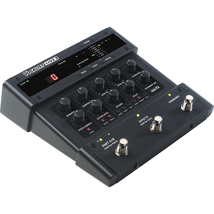 DigiTech Vocalist Live 3 Vocal Harmony Processor Pedal