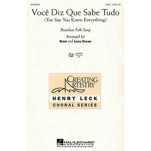 Hal Leonard Voce Diz Que Sabe Tudo (You Say You Know Everything) VoiceTrax CD Arranged by Brad Green-thumbnail