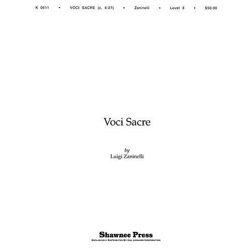 Hal Leonard Voci Sacre Concert Band Level 3 Composed by Luigi Zaninelli