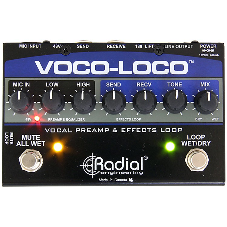 Radial EngineeringVoco-Loco Vocal Preamp and Effect Switcher