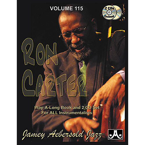 Jamey Aebersold Volume 115 - Ron Carter - Play-Along Book and 2-CD Set-thumbnail