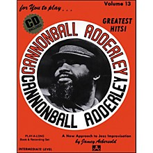 Jamey Aebersold Volume 13 - Cannonball Adderly - Play-Along Book and CD Set