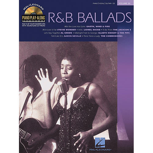 Hal Leonard Volume 20 R&B Ballads Piano Play-Along Piano Vocal & Guitar Songbook with CD-thumbnail