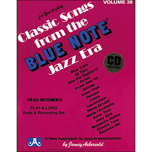 Jamey Aebersold Volume 38 - Blue Note - Play-Along Book and CD Set