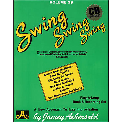 Jamey Aebersold Volume 39 - Swing, Swing, Swing - Book and CD Set-thumbnail