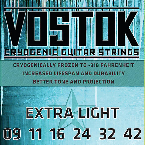 Everly Vostok 9709 Cryogenic Extra Light Gauge Electric Guitar Strings