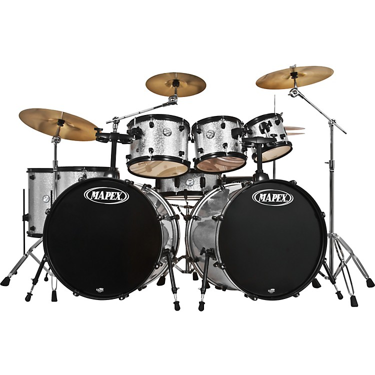 MapexVoyager Ltd Edition SRO 8-Piece Double Bass Drum Set with Cymbals and Throne