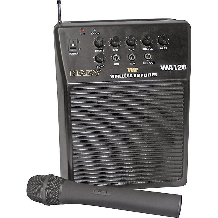 Nady WA-120 Portable PA System with Wireless Handheld Mic Channel P