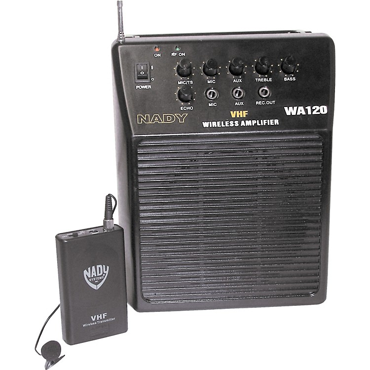 Nady WA 120 Portable PA System with Wireless Omni-Lavalier Mic Channel G1