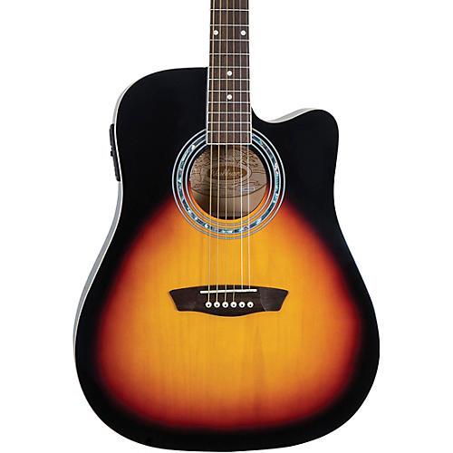 Washburn WA90CE Dreadnought Acoustic Electric Guitar-thumbnail