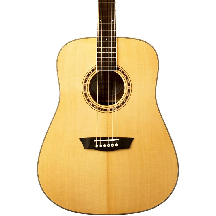 Washburn WD 10S Dreadnought Acoustic Guitar Natural