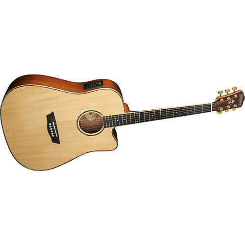 Washburn WD 55SCE Sitka Spruce Top Dreadnought Acoustic-Electric Guitar with Koa Back & Sides