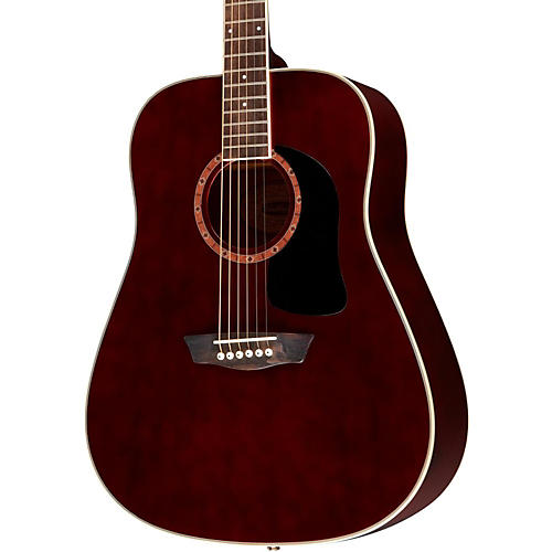 Washburn WD100DL Dreadnought Mahogany Acoustic Guitar Trans Wine Red