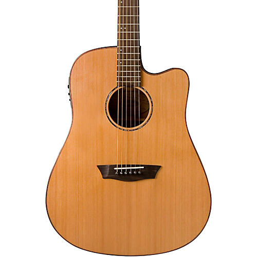 Washburn WD160SWCE Solid Wood Acoustic Electric Guitar Natural
