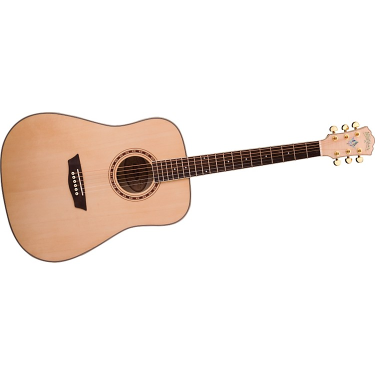 WashburnWD40S Solid Sitka Spruce Top Acoustic Dreadnought Flame Maple Guitar