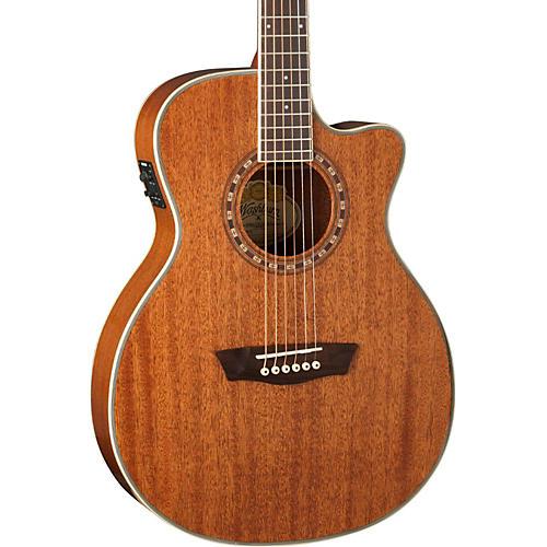 Washburn WF19SCE Mahogany Solid Top Folk Acoustic-Electric Guitar
