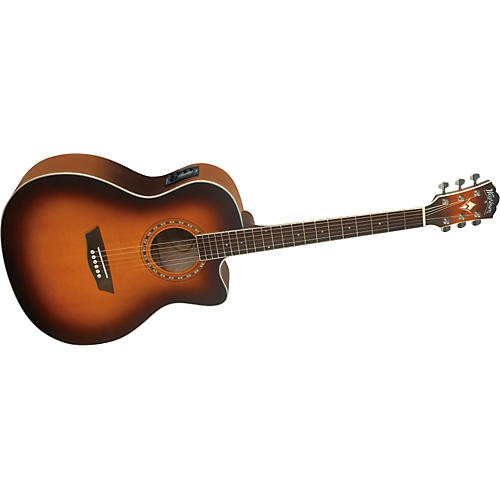 Washburn WG 7SCEA Grand Auditorium Cutaway Acoustic-Electric Guitar-thumbnail