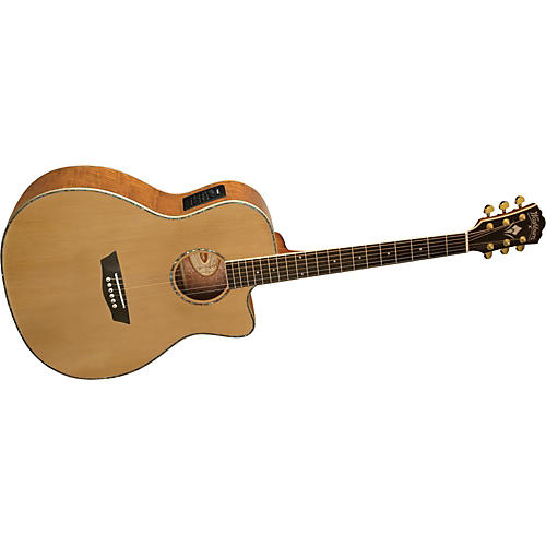 Washburn WG35SCE Solid Sitka Spruce Top Acoustic Cutaway Electric Grand Auditorium Tamo Ash Guitar with Fishman Preamp And Tuner