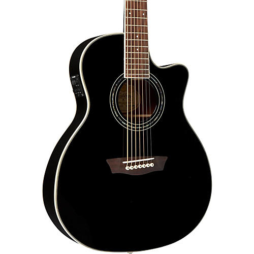 Washburn WGC187 Grand Auditorium 7-String with Belly Carve Arm Scarf Acoustic Electric Guitar