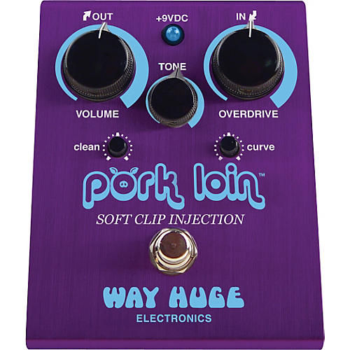 Way Huge Electronics WHE201 Pork Loin Soft Clip Injection Overdrive Guitar Effects Pedal