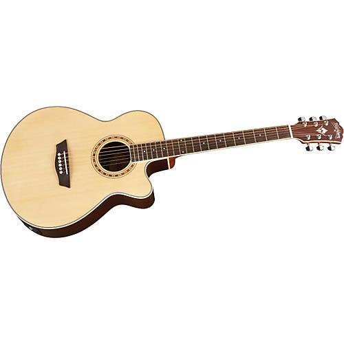 Washburn WMJ 20SCE Mini Jumbo Cutaway Acoustic-Electric Guitar-thumbnail