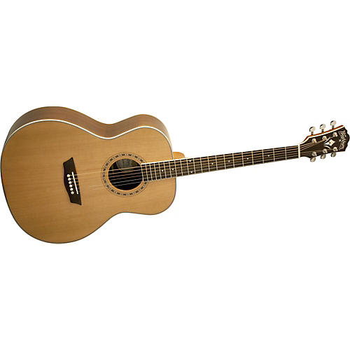 Washburn WMJ21S Solid Cedar Top Acoustic Mini Jumbo Rosewood Guitar