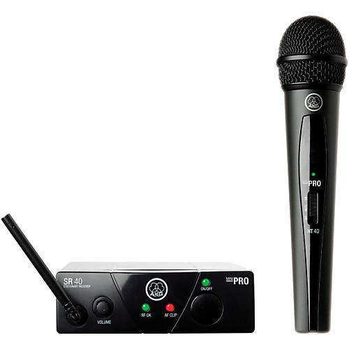 AKG WMS 40 Mini Vocal Wireless System Ch A with D8000M Handheld