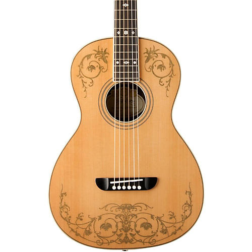 Washburn WP5234S Parlor Acoustic Guitar with Gold Leaf Design