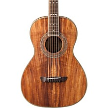 Washburn WP55 Parlor Koa Acoustic Guitar Level 1 Satin Natural