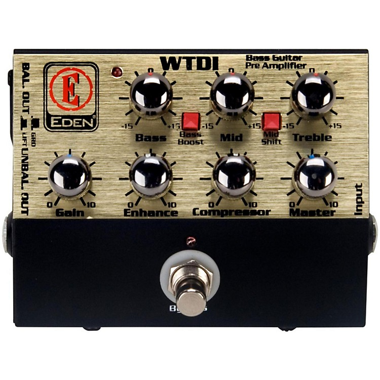 Eden WTDI World Tour Direct Box and Bass Preamp Black
