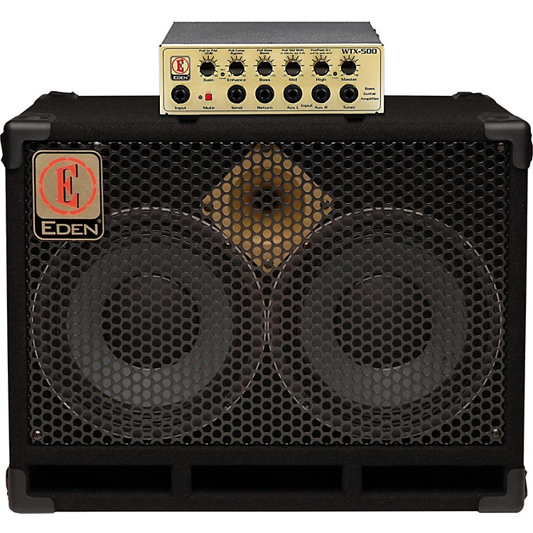 Eden WTX500 and D210XST Bass Stack Gold 8 ohm