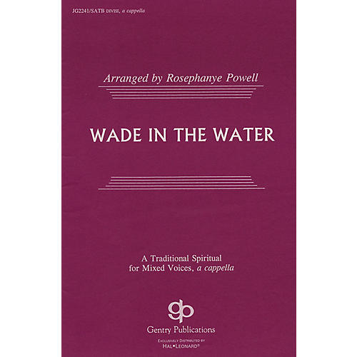 Fred Bock Music Wade in the Water SATB DV A Cappella arranged by Rosephanye Powell-thumbnail