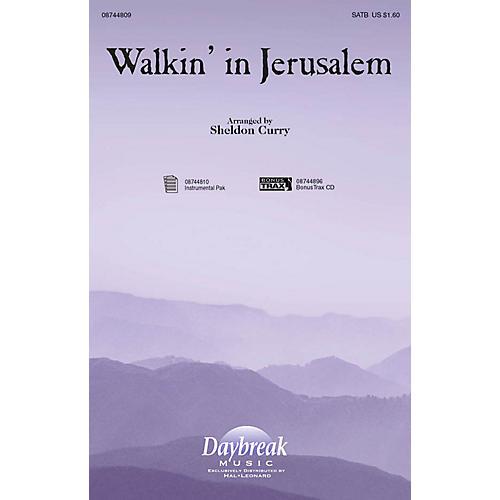 Daybreak Music Walkin' in Jerusalem SATB arranged by Sheldon Curry-thumbnail