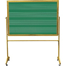 Vecchio Wall Mounted Music Staff Board 3 x 4 ft. Chalkboard (4 Staves)