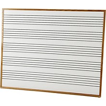 Vecchio Wall Mounted Music Staff Board 4 x 5 ft. Chalkboard (5 Staves)