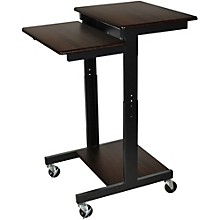 H. Wilson Walnut Mobile Adjustable Workstation