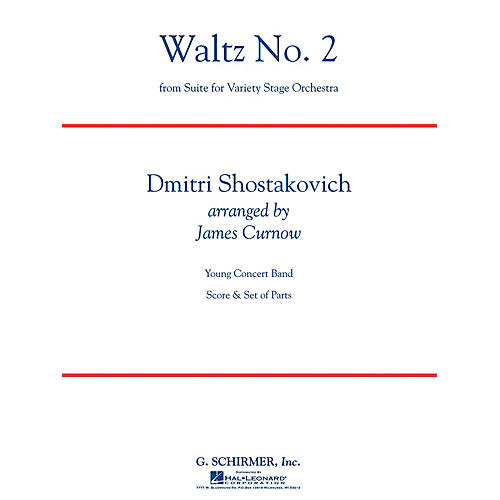 G. Schirmer Waltz No 2 (from Suite for Variety Stage Orchestra) Concert Band Lvl 3 by Shostakovich Arranged by Curnow-thumbnail