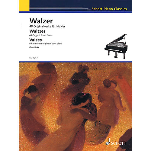 Schott Waltzes (48 Original Piano Pieces) Schott Series Softcover Composed by Various Edited by Monika Twelsiek