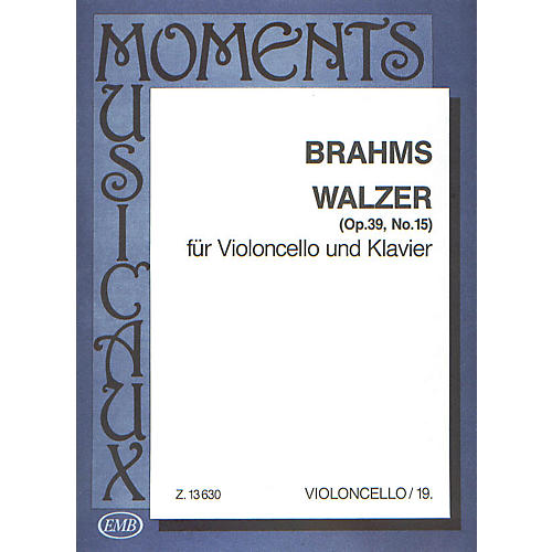 Editio Musica Budapest Walzer Op.39#15-vcl/pno EMB Series by Johannes Brahms-thumbnail